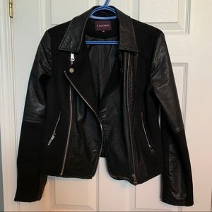 VIGOSS Faux Suede and Leather Jacket